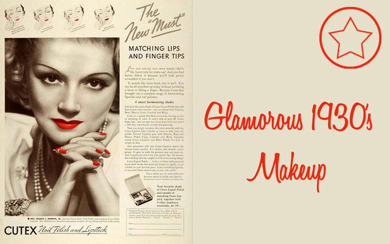 Vintage Beauty: Glamorous 1930's Makeup